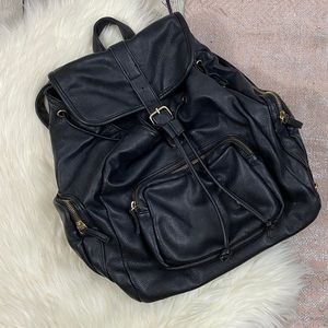Forever 21 \\ faux leather backpack